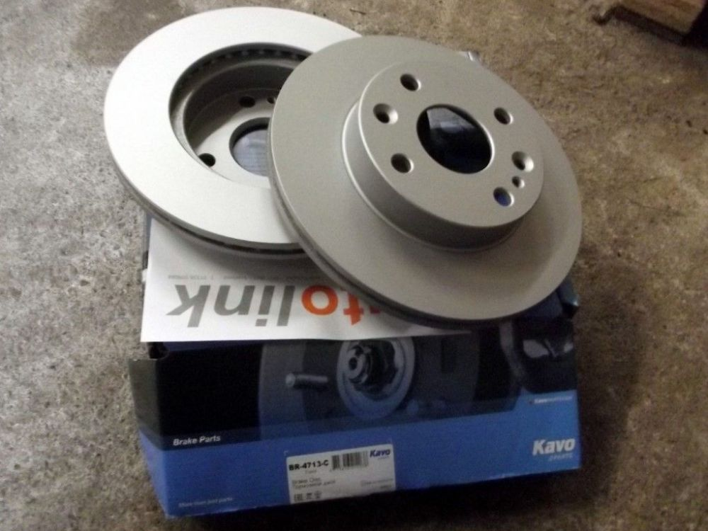 Brake discs, Mazda MX-5 mk1 1.6, 1989-98, coated front, 235mm vented, set of 2